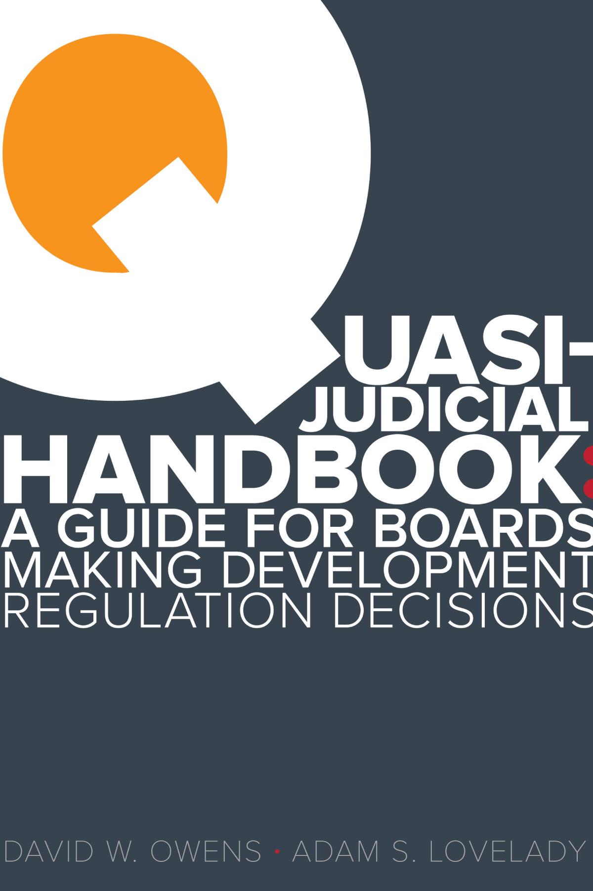 Quasi Judicial Handbook Cover Image
