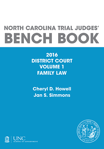 District Court Judges Bench Book Family Law Cover Image