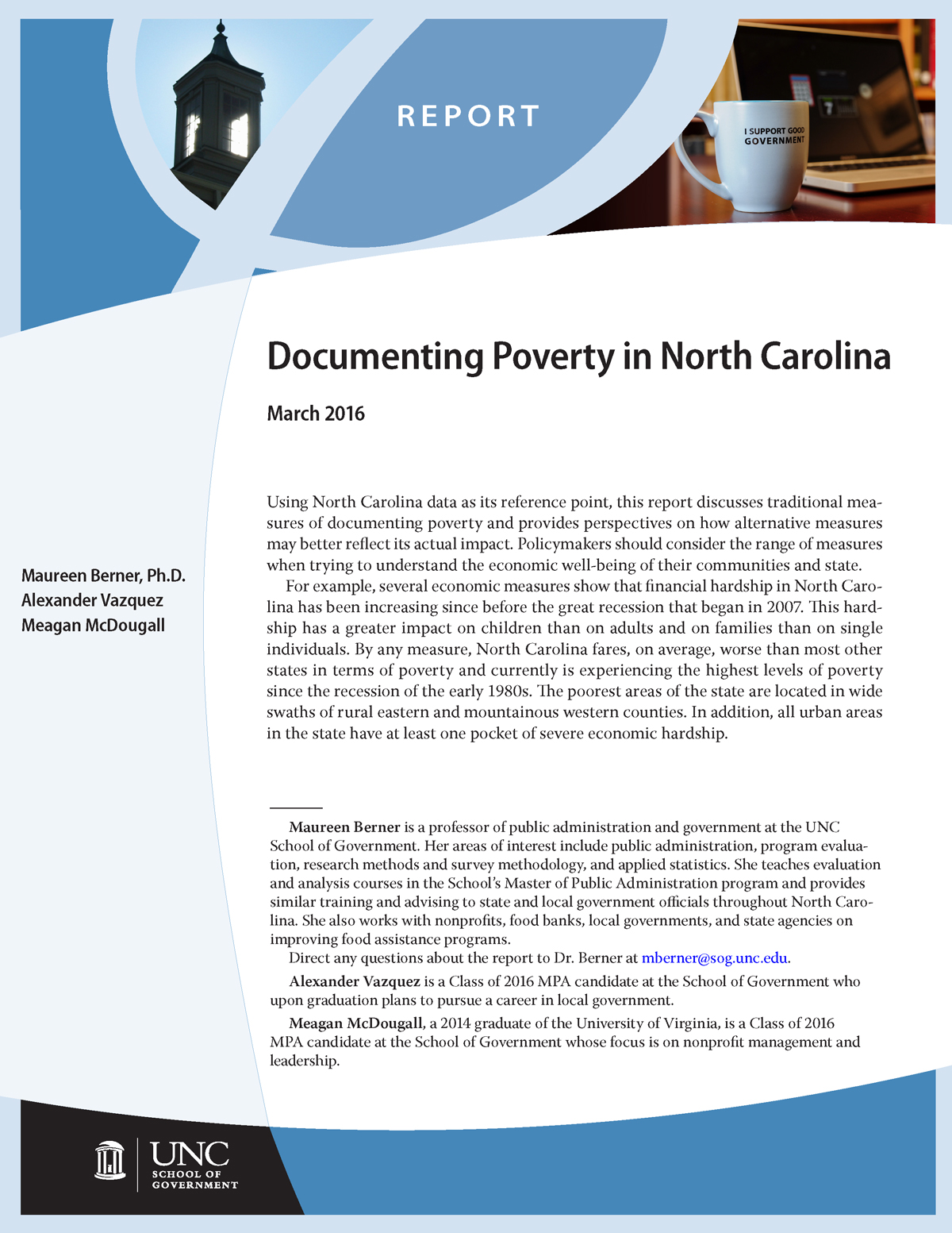 Documenting Poverty in North Carolina