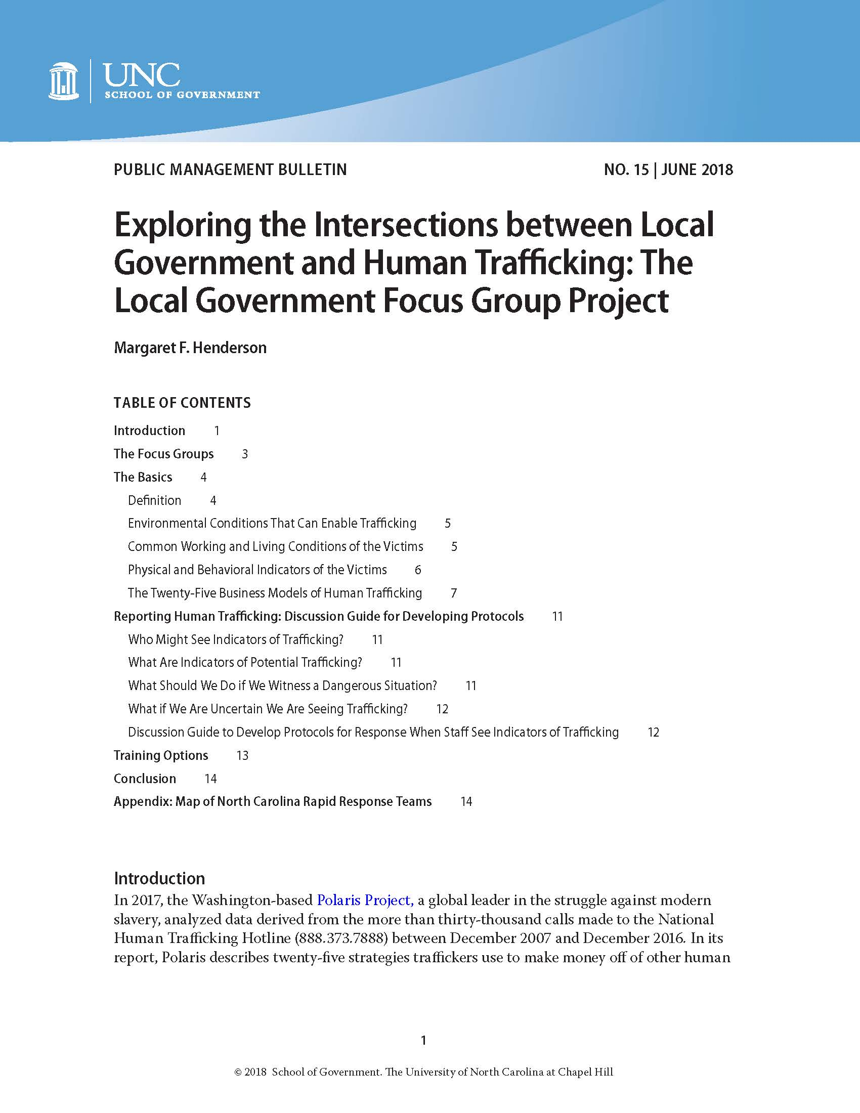 Cover image for Exploring the Intersections between Local Governments and Human Trafficking: The Local Government Focus Group Project