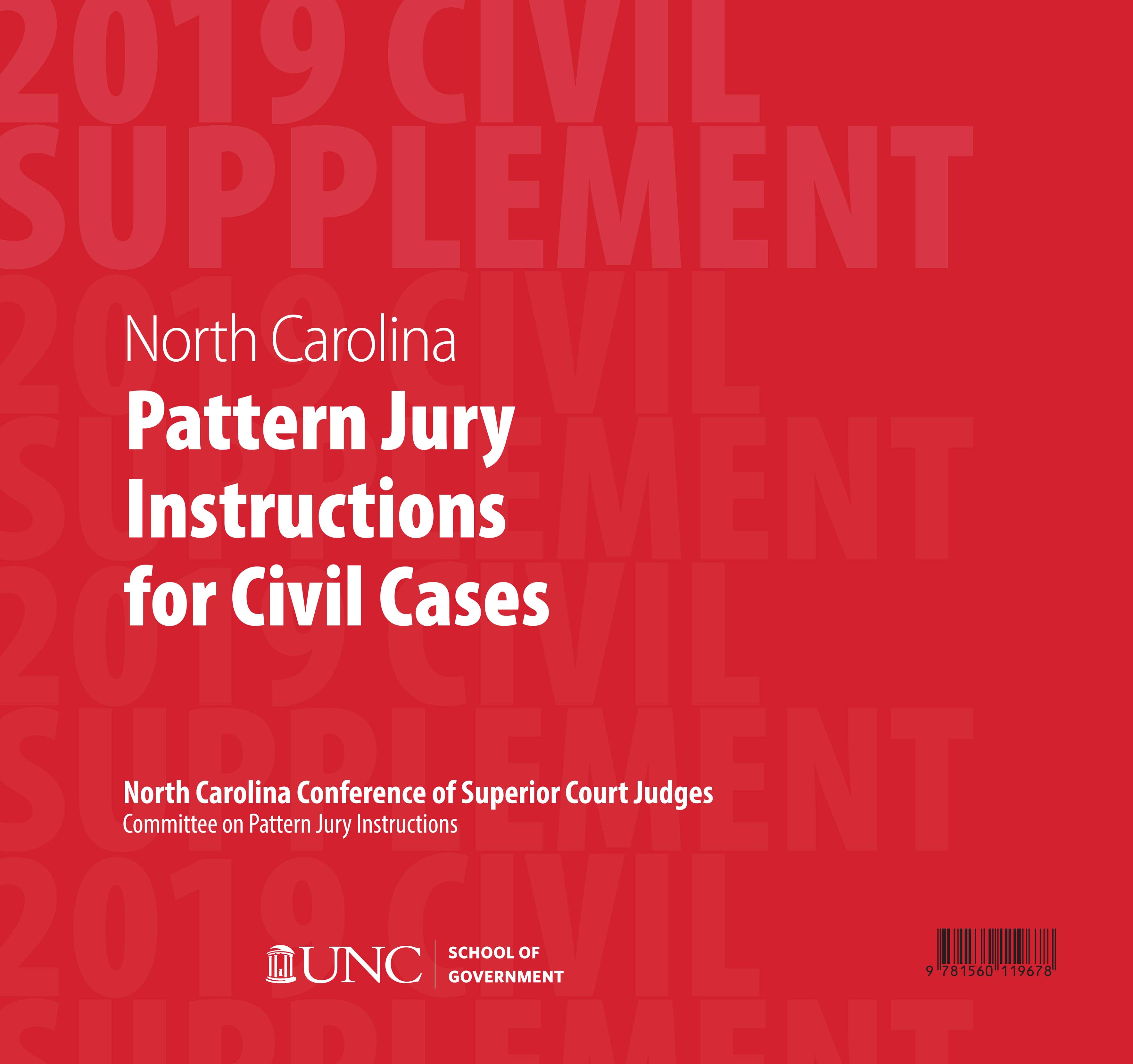 Cover image for June 2019 Supplement to North Carolina Pattern Jury Instructions for Civil Cases