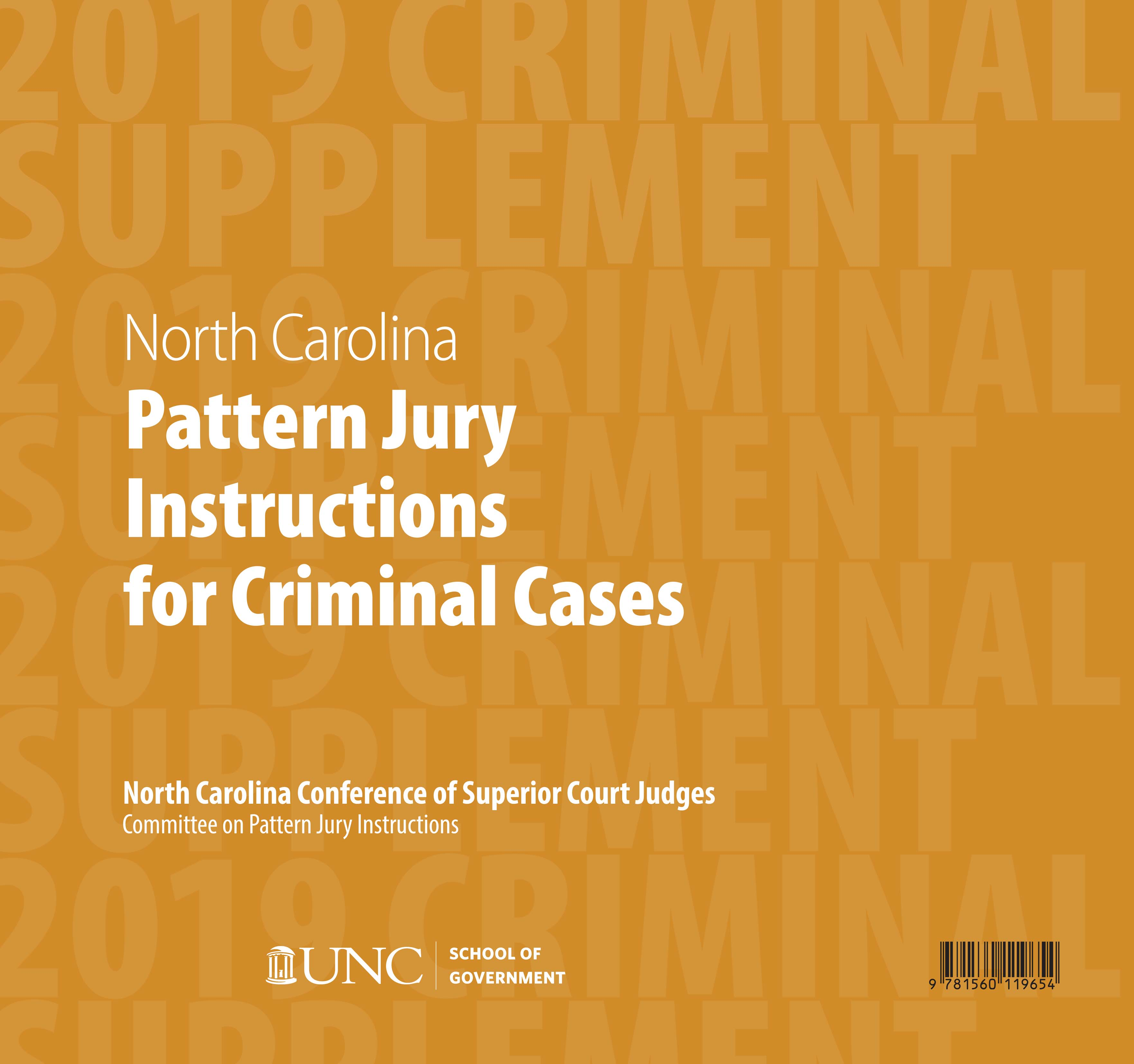 Cover image for June 2019 Supplement to North Carolina Pattern Jury Instructions for Criminal Cases