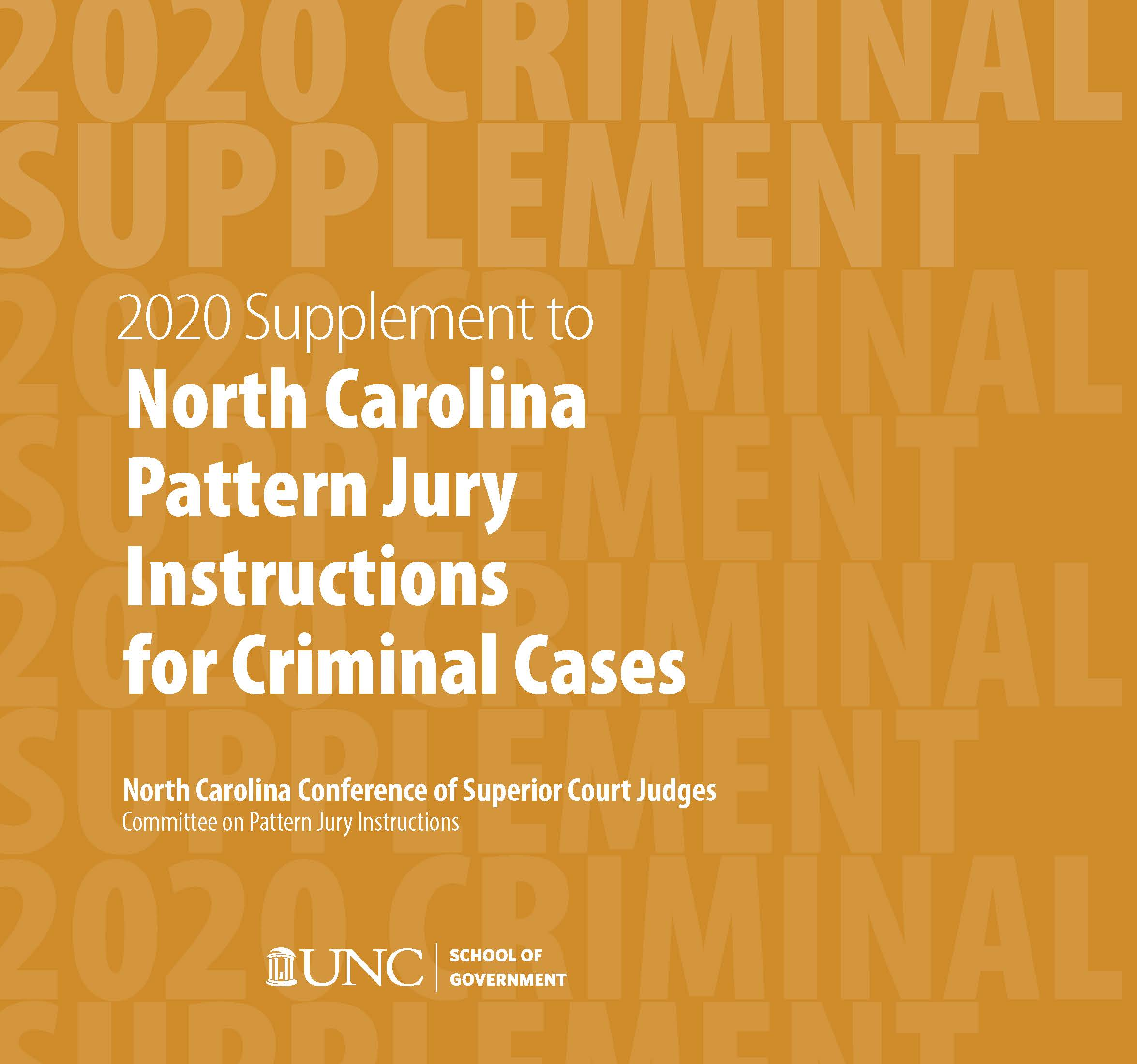 Cover image for June 2020 Supplement to North Carolina Pattern Jury Instructions for Criminal Cases