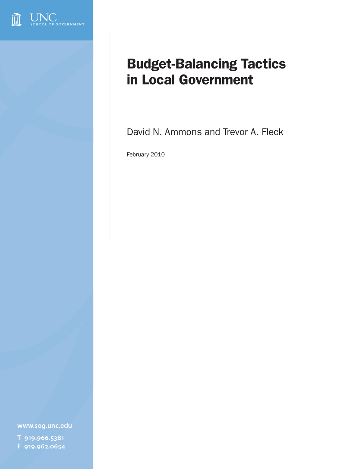 Cover image for Budget-Balancing Tactics in Local Government
