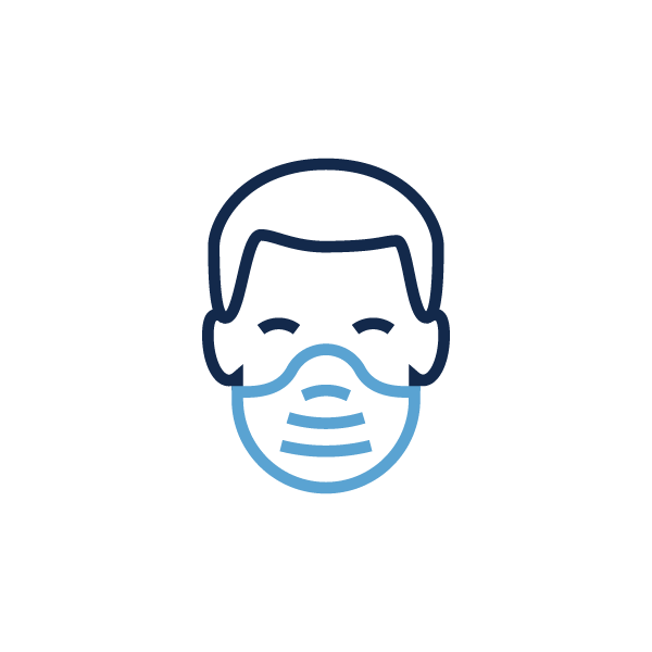 Icon of a person wearing a face mask