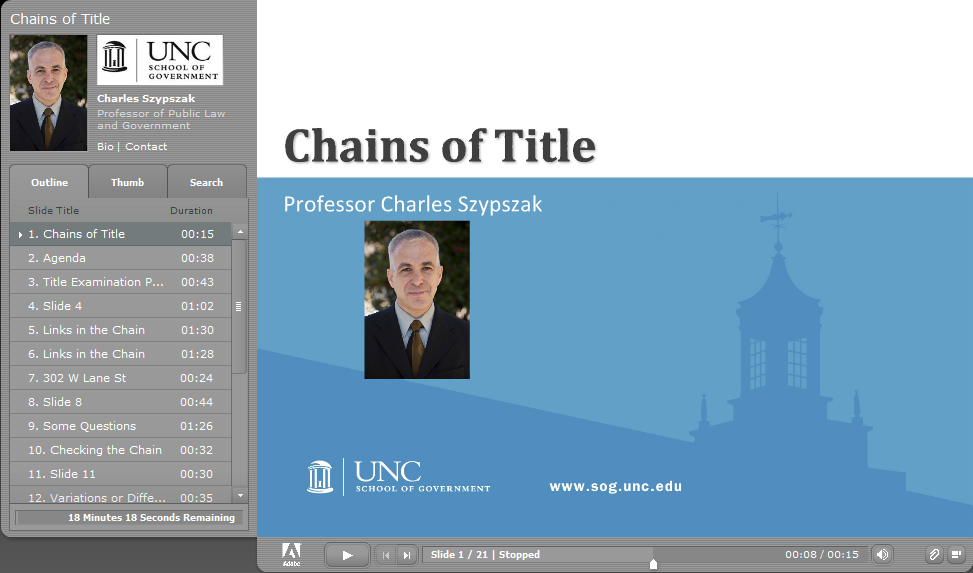 Chains of Title