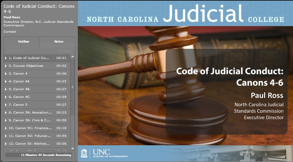 Code of Judicial Conduct 2