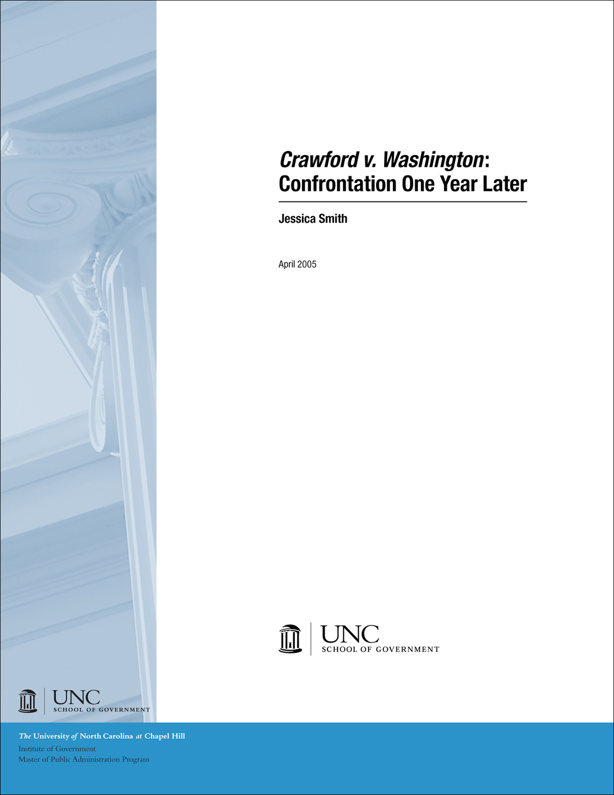Cover image for Crawford v. Washington: Confrontation One Year Later