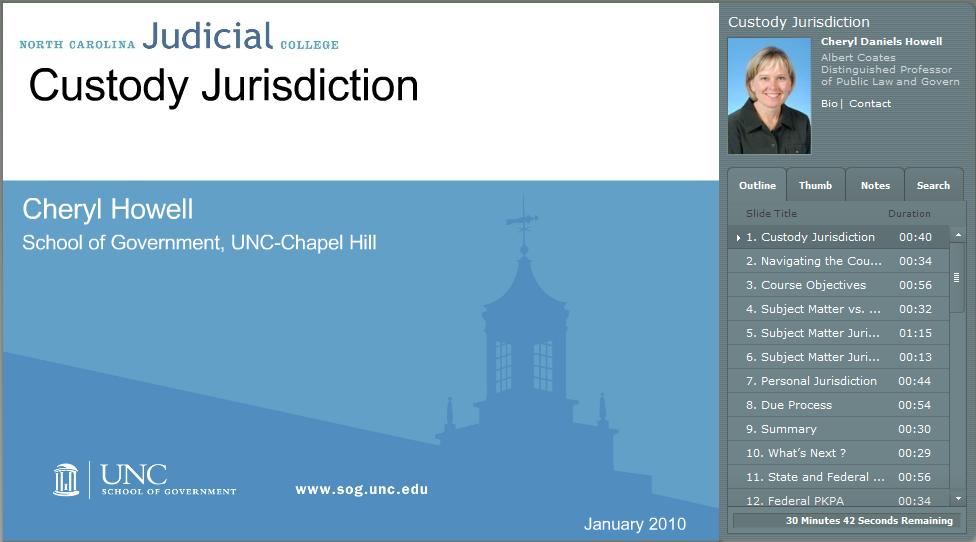 Custody Jurisdiction