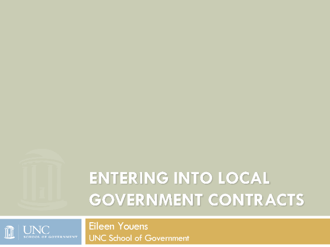 Entering into Local Government Contracts