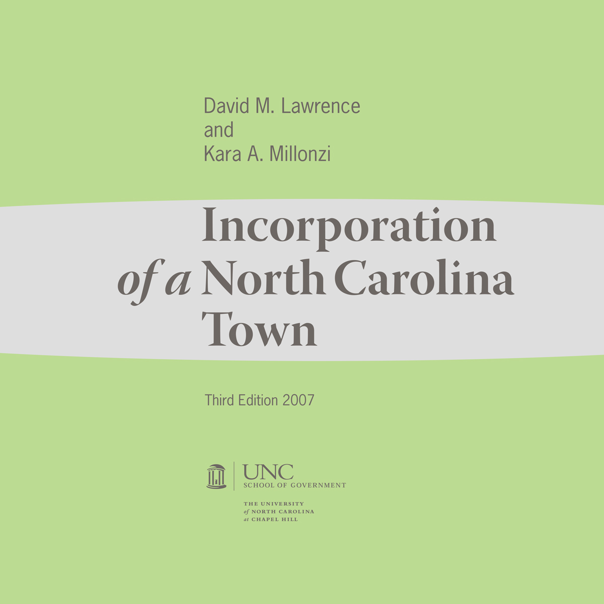 Cover image for Incorporation of a North Carolina Town, Third Edition