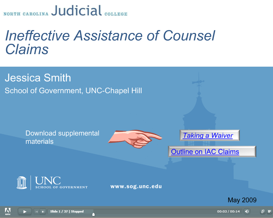 Ineffective Assistance of Counsel Claims