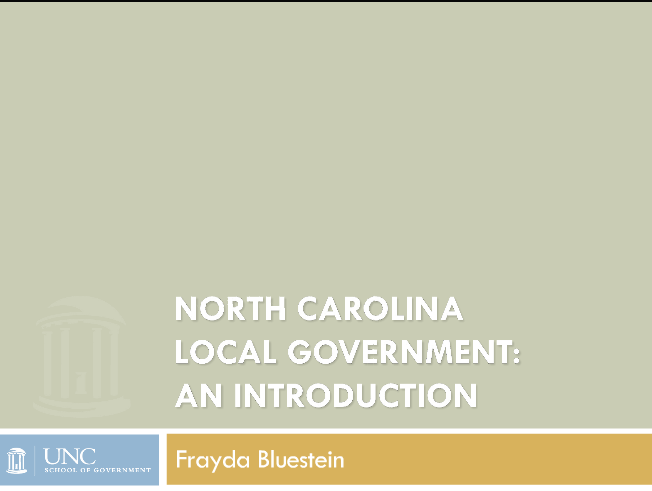 Cover image for North Carolina Local Government: An Introduction