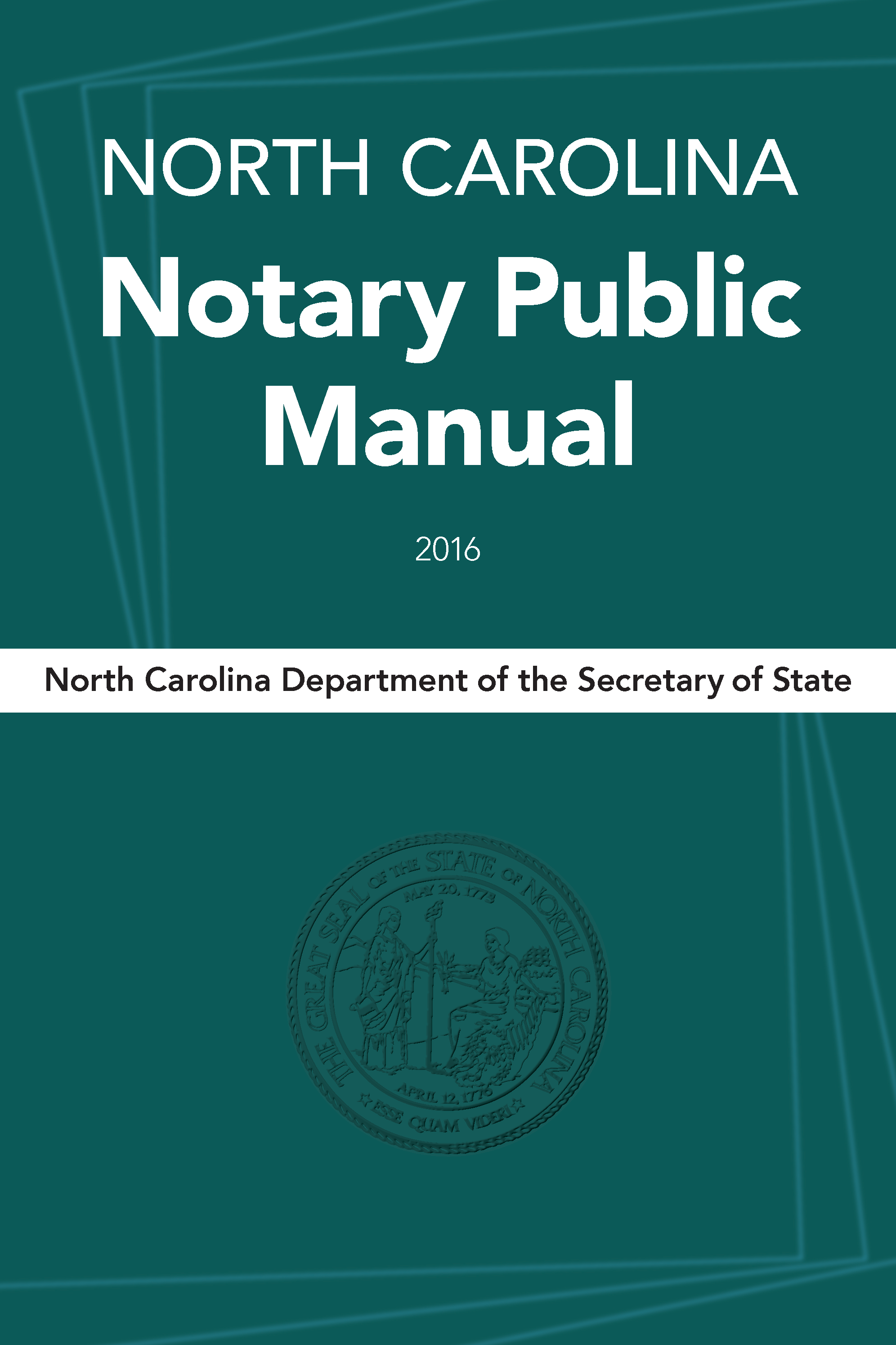 North Carolina Notary Public Manual