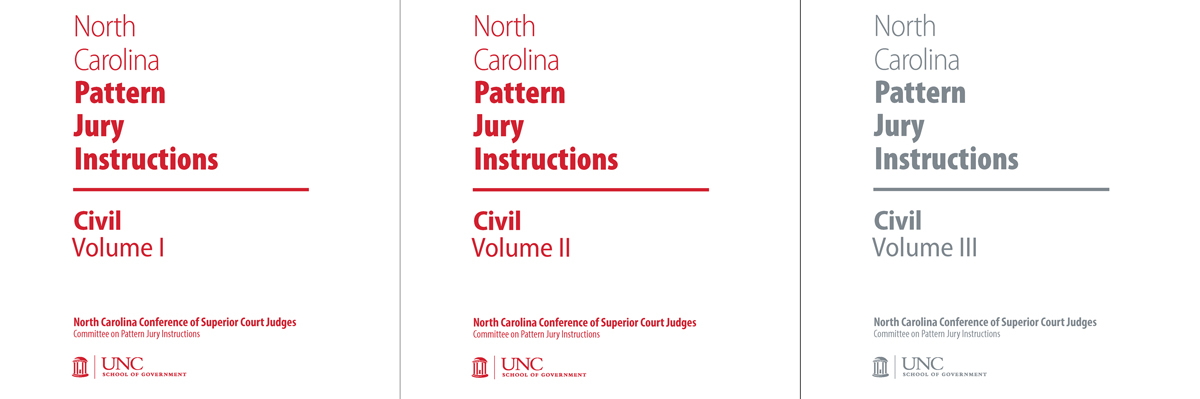 Nc Pattern Jury Instructions For Civil Cases Complete Set Unc
