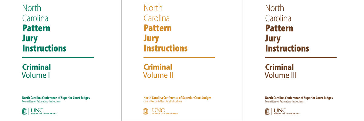 NC Pattern Jury Instructions for Criminal Cases: Complete Set ...