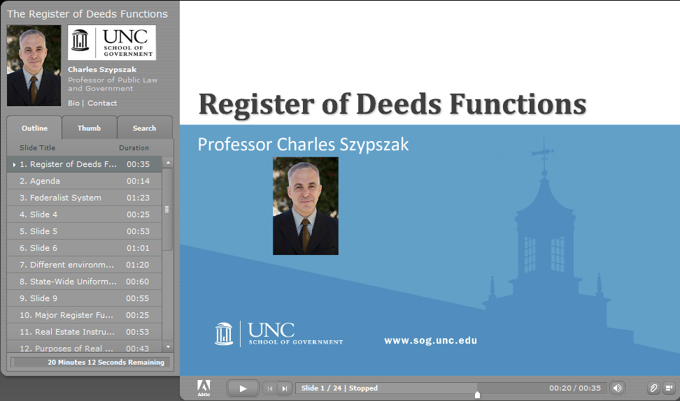 Register of Deeds Functions
