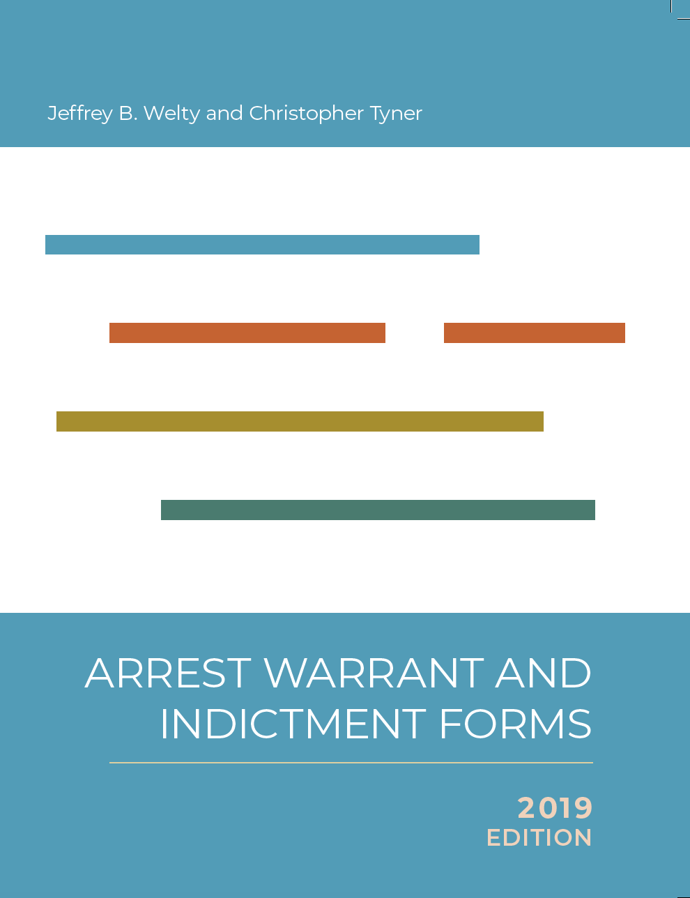 Cover of Arrest Warrant and Indictment Forms 2019