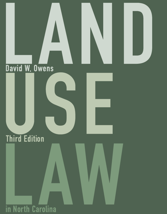 Cover of NC Land Use Law