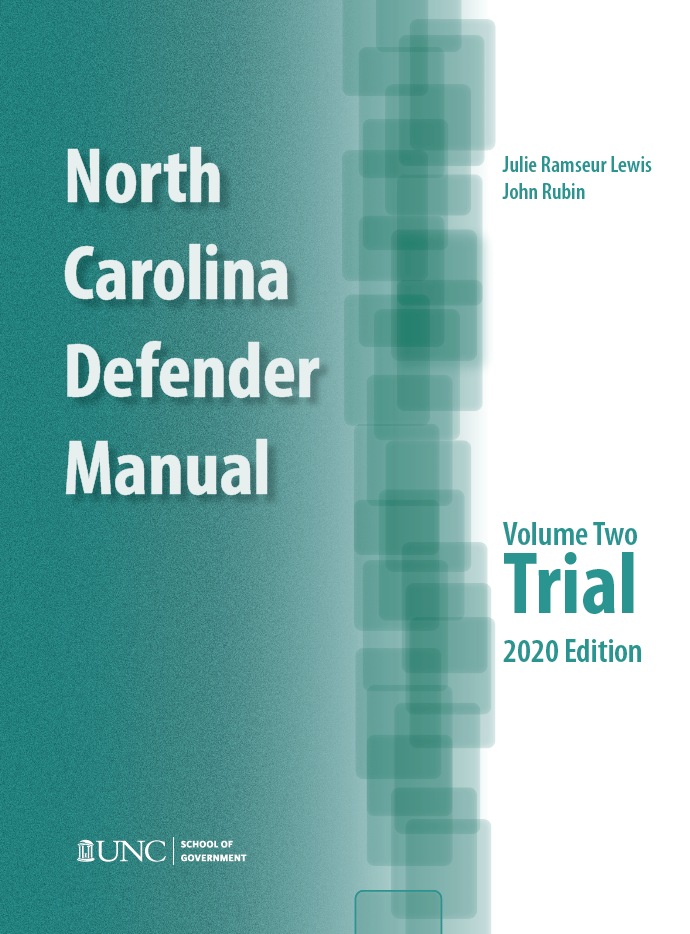 Cover of NC Defender Manual, Volume 2, Trial