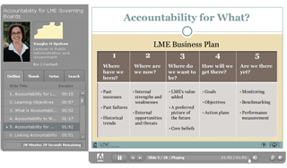 LME Board Training - Accountability