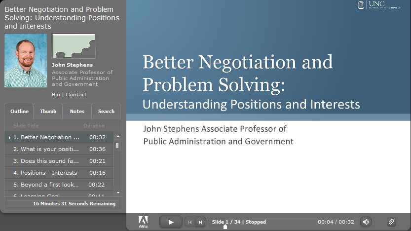 Better Negotiation and Problem Solving: Understanding Positions and Interests