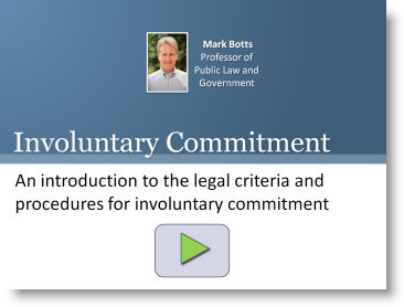 Involuntary Commitment Training - Introduction