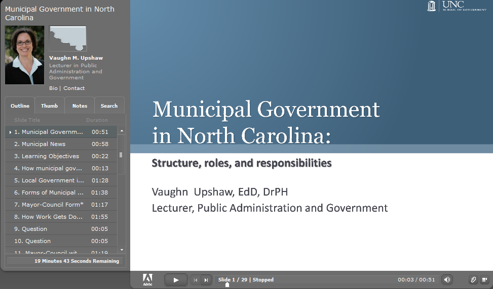 Cover image for Municipal Government in North Carolina