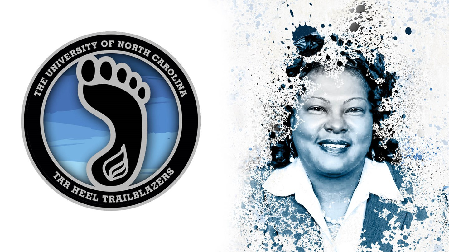 Tar Heel Trailblazer Rochelle Small Toney, graphic courtesy of Carolina Athletics