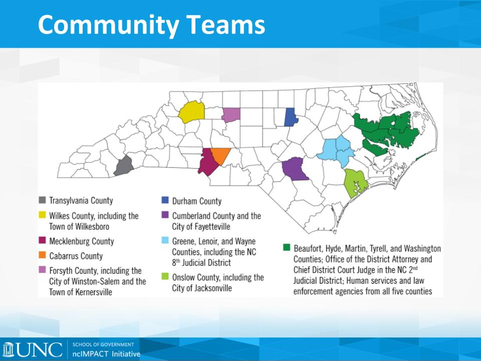 Opioid Response Project Teams in NC - ncIMPACT Initiative