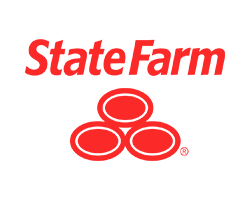 State Farm logo in red