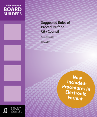 Suggested Rules of Procedure for a City Council Cover Image