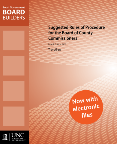 Cover Image for the Suggested Rules of Procedure for the Board of County Commisioners