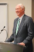 Former Charlotte Mayor and Foundation Board Member Richard Vinroot