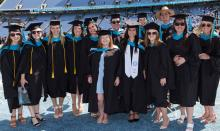 UNC MPA graduates in Kenan Stadium; photo courtesy of York Wilson