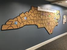 The North Carolina Cork Map and how the state is addressing human trafficking.