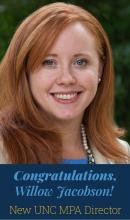 UNC MPA Director Willow Jacobson