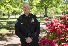 Chapel Hill Police Chief Chris Blue graduated from the School's Municipal and County Administration course in April 2016.
