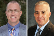 Professional headshots of School of Government faculty members Trey Allen and Charles Szypszak