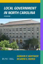 Local Government in North Carolina Front Cover
