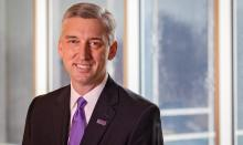 A headshot of ECU chancellor Philip Rogers