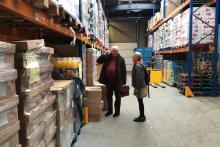 Maureen Berner visits food bank in Belgium