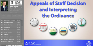 Appeals of Staff Decision and Interpreting the Ordinance