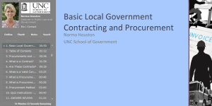 Basic Local Government Contracting and Procurement