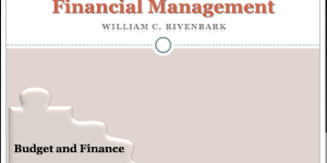 Budgeting and Financial Management
