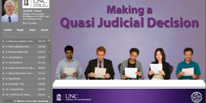Making a Quasi-Judicial Decision