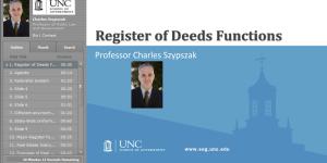 Register of Deeds Functions