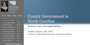 County Government in North Carolina