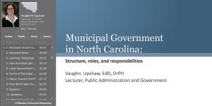 Municipal Government in North Carolina