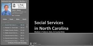 Social Services in North Carolina: Part 2